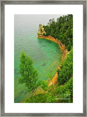 Miner's Castle At Picture Rocks National Lakeshore Framed Print