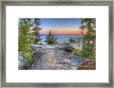 Miners Castle At Pictured Rocks Framed Print by Twenty Two North Photography
