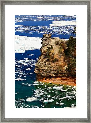 Miner's Castle In Spring Framed Print by Rachel Cohen