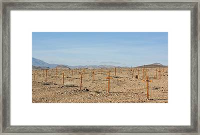 Miners Death Framed Print