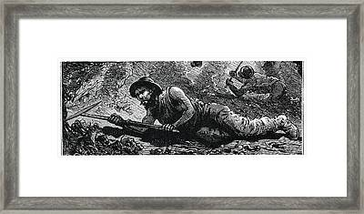 Miners In The Pit Framed Print by Science Photo Library