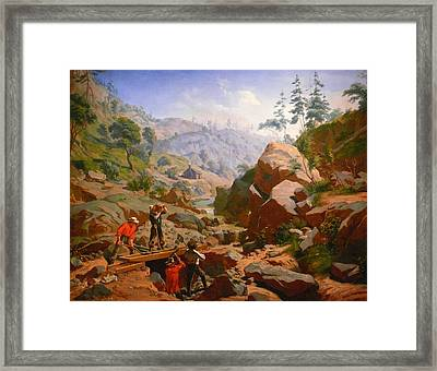 Miners In The Sierras Framed Print by Charles Nahl