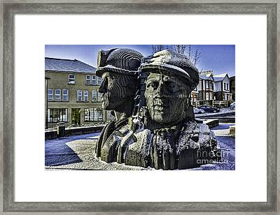 Miners In The Snow 1 Framed Print