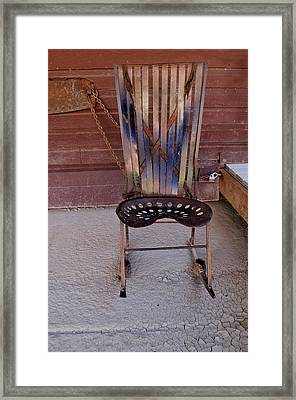 Framed Print featuring the photograph Miner's Rocker by Fran Riley