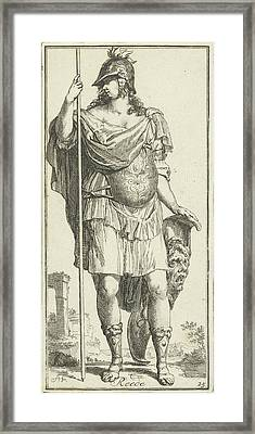 Minerva As A Personification Of Reason, Print Maker Arnold Framed Print by Arnold Houbraken And Leonard Schenk