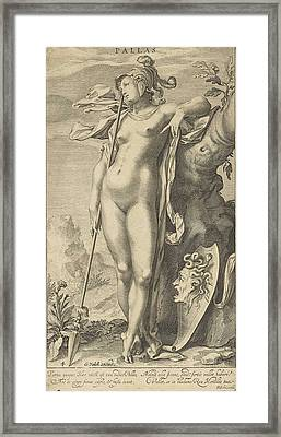 Minerva In A Tree Framed Print by Willem Isaacsz. Van Swanenburg And Michiel Jansz Van Mierevelt And Petrus Scriverius