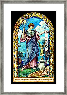 Minerva Mosaic Design 1896 Framed Print by Padre Art