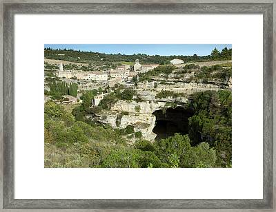 Minerve And River Cesse Framed Print by Bob Gibbons