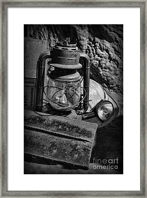 Mineworkers - The Coal Miner's Gear Framed Print