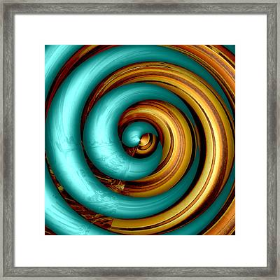 Mingle - Aqua Framed Print by Wendy J St Christopher