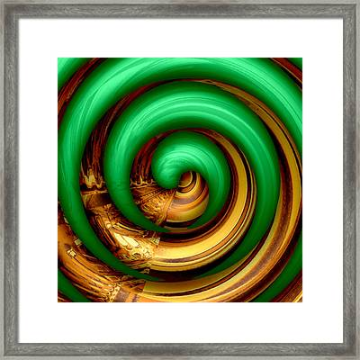 Mingle - Green    Framed Print by Wendy J St Christopher