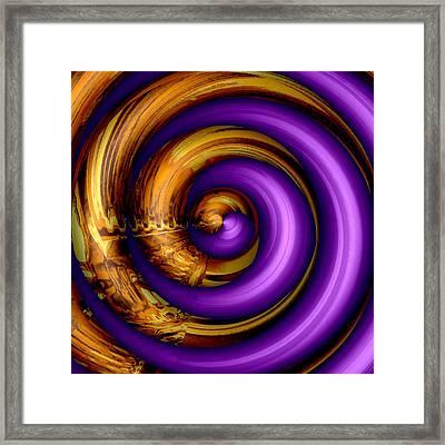 Mingle - Purple Framed Print by Wendy J St Christopher