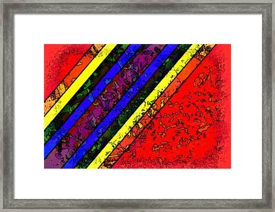 Mingling Stripes Framed Print