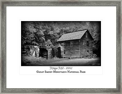 Mingus Mill -- Black And White Poster Framed Print