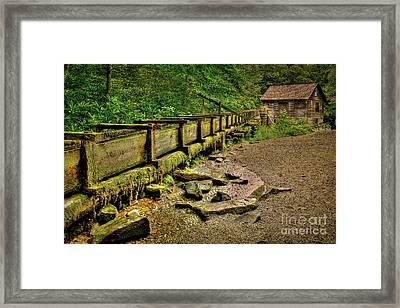 Mingus Mill Mingus Creek Great Smoky Mountains Art Framed Print by Reid Callaway