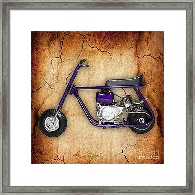 Mini Bike Taco 22 Framed Print by Marvin Blaine
