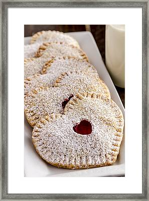 Mini Cherry Heart Pies Framed Print by Teri Virbickis