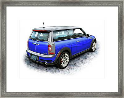 Mini Cooper Clubman Blue Framed Print by David Kyte