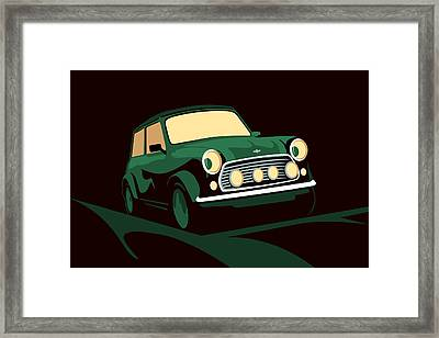 Mini Cooper Green Framed Print by Michael Tompsett