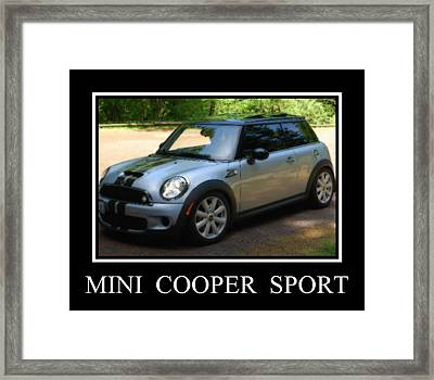 Mini Cooper Sport Framed Print by Kathy Sampson