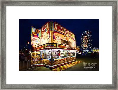 Mini Donuts Kiosk Framed Print by Bob Christopher
