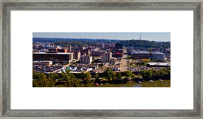 Mini Downtown Parkersburg Framed Print