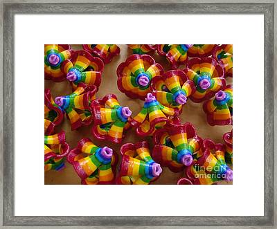 mini Flying Rainbow Lasagnes Framed Print by Nofirstname Aurora