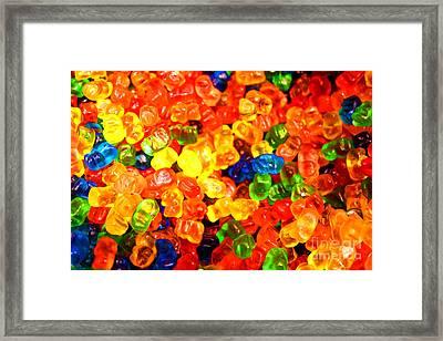 Mini Gummy Bears Framed Print