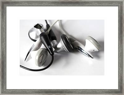 Mini Headphone Framed Print by Kenneth Feliciano