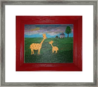 Mini Me Framed Print by Yvonne  Kroupa