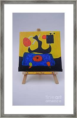Mini Miro Framed Print by Diana Bursztein