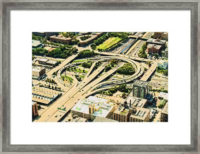 Mini Motorway Framed Print by Andrew Paranavitana
