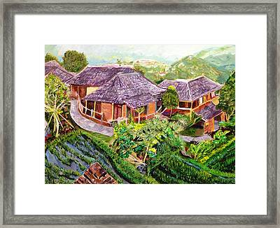 Framed Print featuring the painting Mini Paradise by Belinda Low