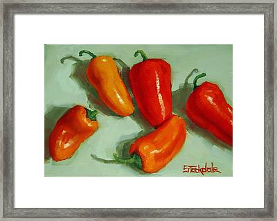 Mini Peppers Study 3 Framed Print