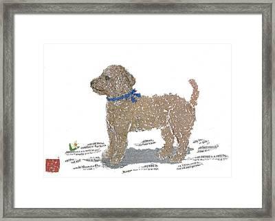 Poodle Art Framed Print by Keiko Suzuki