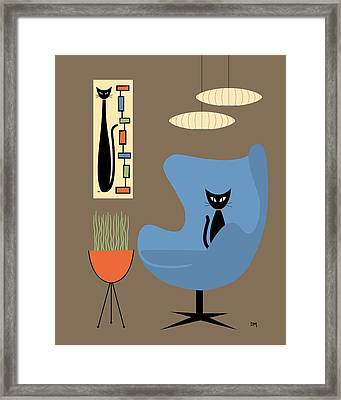 Mini Rectangle Cat Framed Print