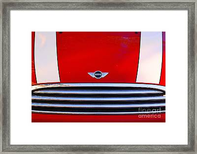 Mini Red Framed Print by Aimelle