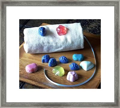 Mini Soaps Collection Framed Print by Anastasiya Malakhova