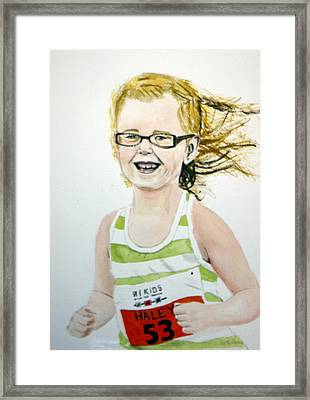 Mini Tri Athlete Framed Print by Betty-Anne McDonald