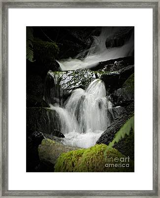Mini Waterfall 2 Framed Print by Chalet Roome-Rigdon