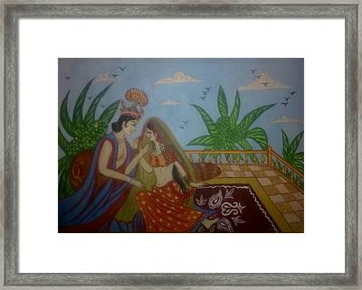 Miniature Art Framed Print by Syeda Ishrat