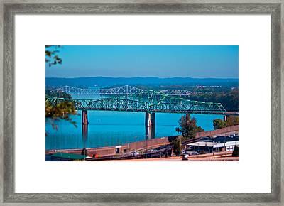 Miniature Bridge Framed Print by Jonny D