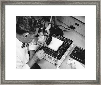 Miniature Computer Framed Print