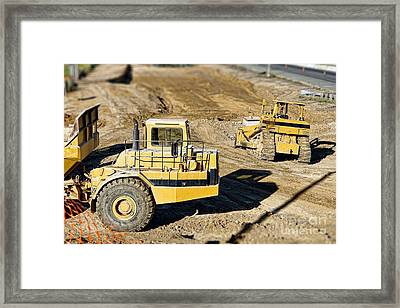 Miniature Construction Site Framed Print by Olivier Le Queinec
