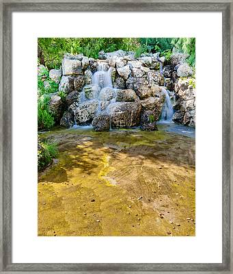 Miniature Falls Framed Print