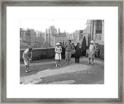 Miniature Golf In Ny City Framed Print by Underwood Archives
