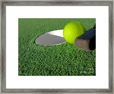 Miniature Golf Framed Print by Olivier Le Queinec