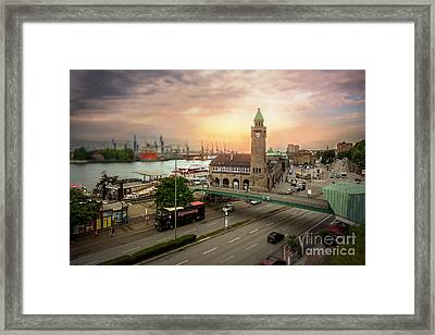 Miniature Hamburg Framed Print