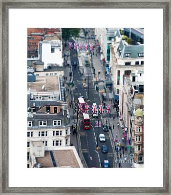 Miniature Oxford Street Framed Print by Matt Malloy