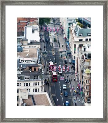 Miniature Oxford Street Framed Print